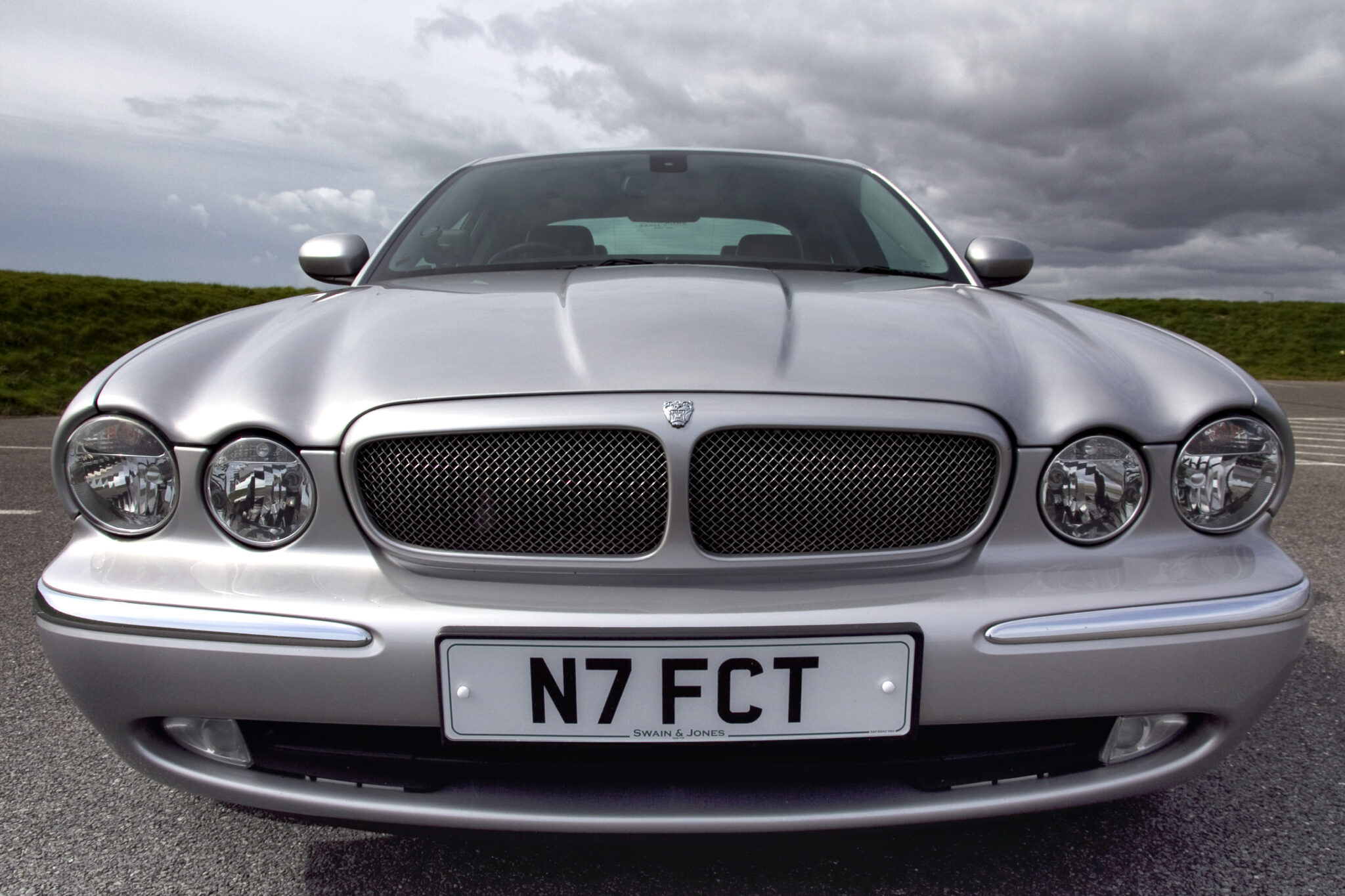 Jaguar Car with private plate