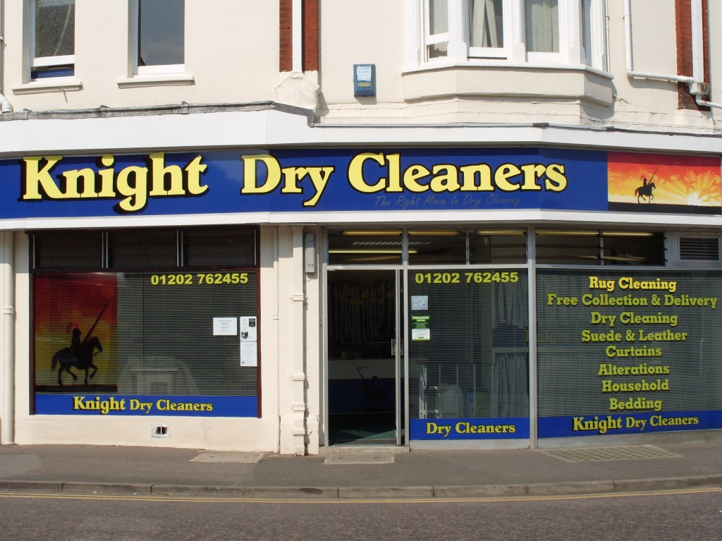Knight Dry Cleaners Shop Front