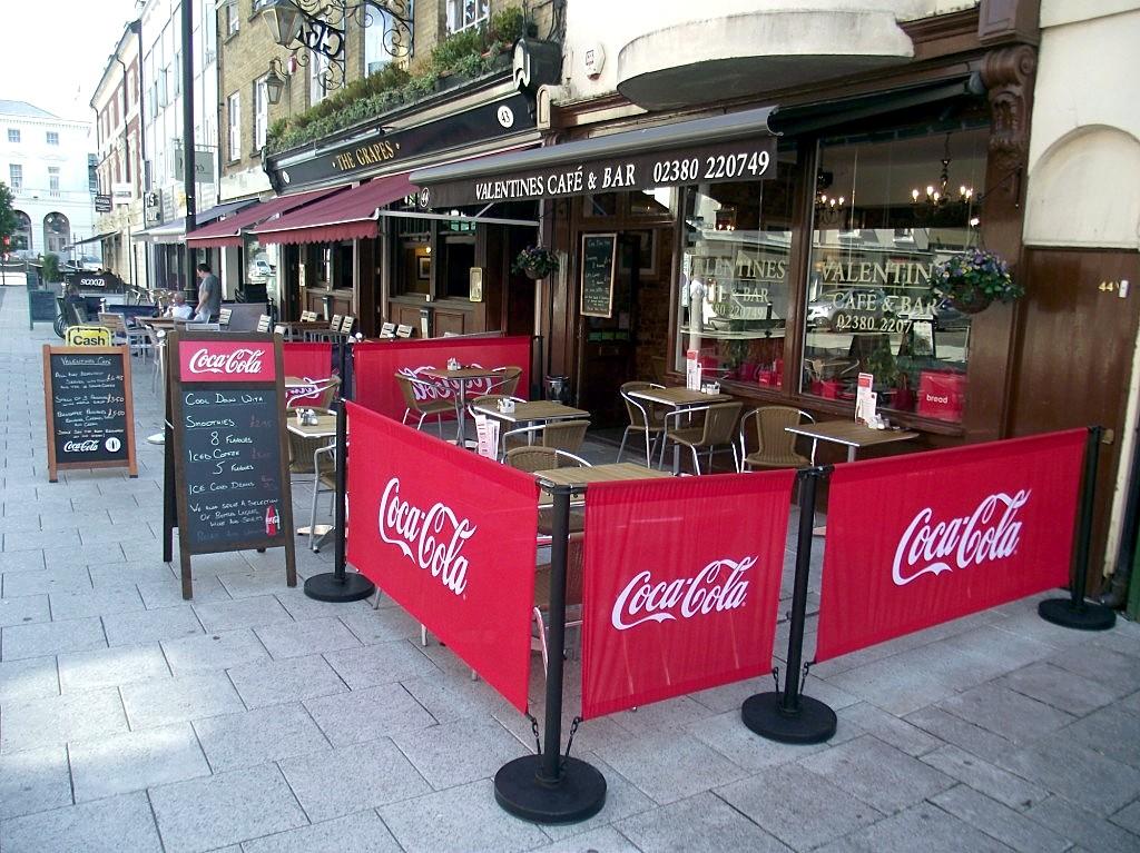 Front of Valentines Cafe & Bar