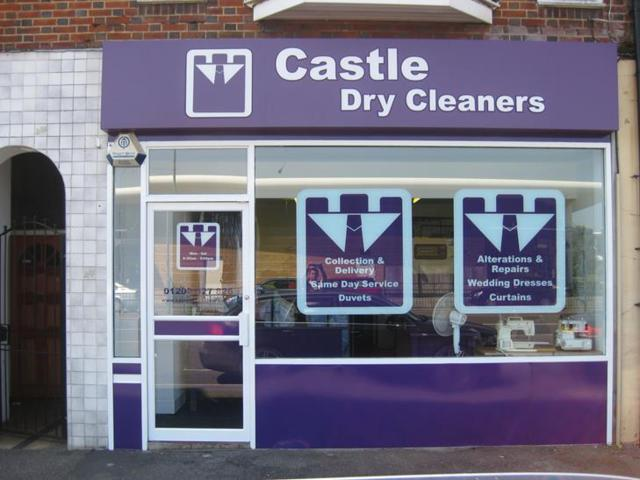 Castle Dry Cleaners Shop Front