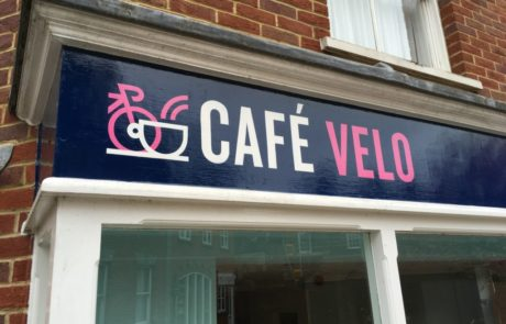 Cafe Velo signwritten shop front