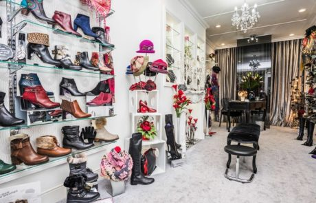 interior of ladies shoe shop
