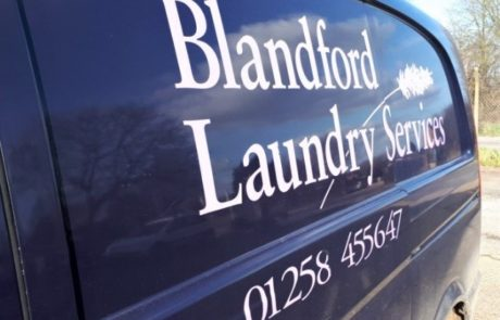 Blandford Laundry delivery van