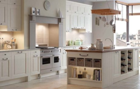 Fitted kitchen setting