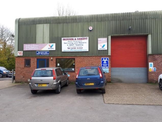 External view of MOT garage