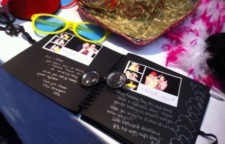 open wedding photo album