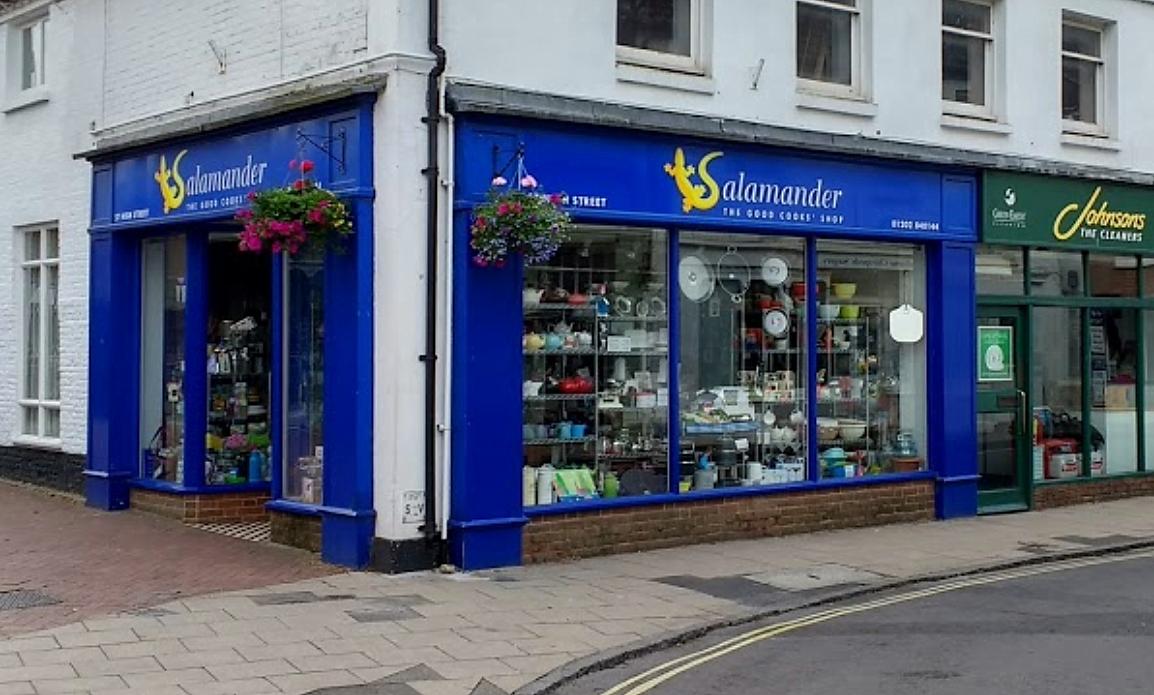 Salamander Cookshop shop front