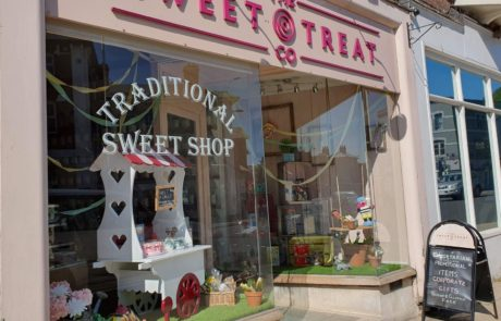 Exterior frontage of sweet shop