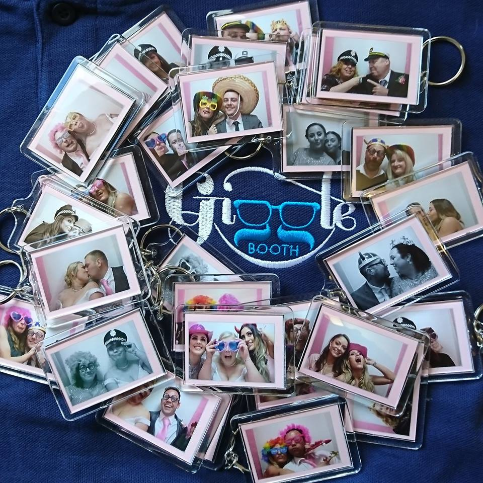 Collage of photo keyrings