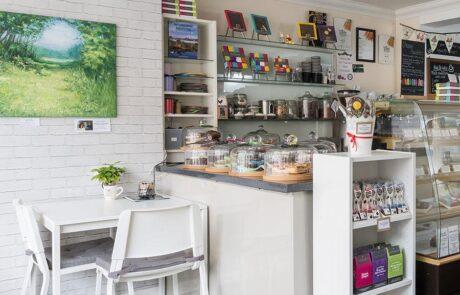 Chocolate shop interior