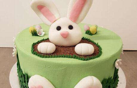 Rabbit celebration cake